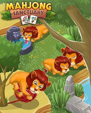 Happy Lions Badge - Mahjong Sanctuary