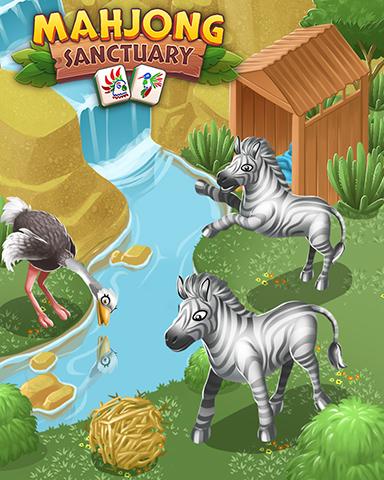 Zebras & Ostriches Badge - Mahjong Sanctuary