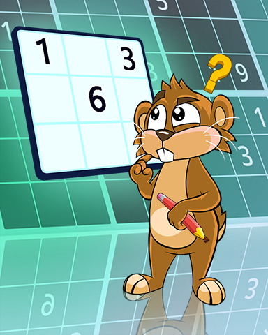 Gophering It Out Badge - Pogo Daily Sudoku