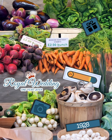 At The Market Badge - Royal Wedding: One Year Later