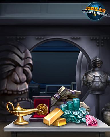 Chase's Vault Badge - Jigsaw Treasure Hunter HD