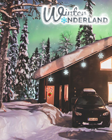 Holiday Home Badge - Winter Wonderland