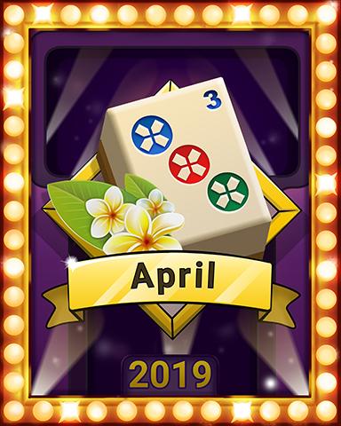 April Escape Lap 1 Badge - Mahjong Escape