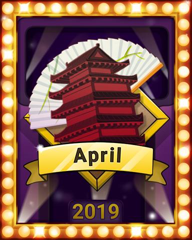 April Escape Lap 2 Badge - Mahjong Escape