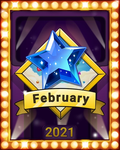 February Frolic Lap 1 Badge - Bejeweled Stars