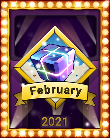February Frolic Lap 2 Badge - Bejeweled Stars