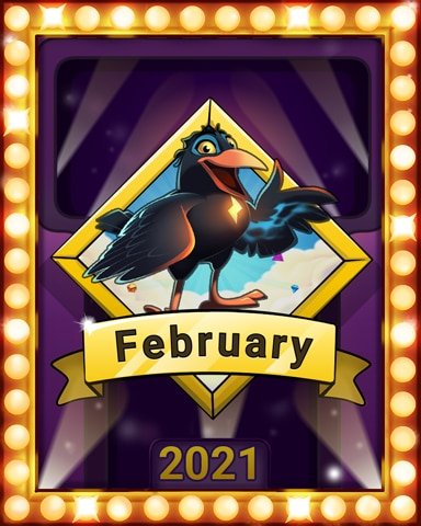 February Frolic Lap 4 Badge - Bejeweled Stars
