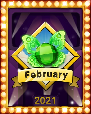 February Frolic Lap 3 Badge - Bejeweled Stars