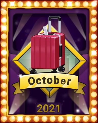 Autumn In The Air Lap 3 Badge - Jet Set Solitaire