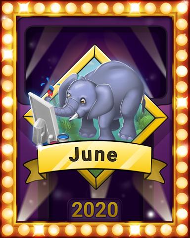 June Jaunt Lap 1 Badge - Mahjong Sanctuary