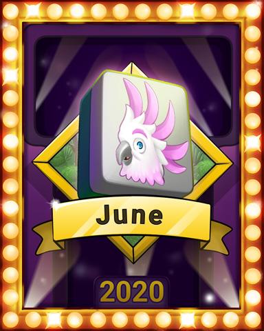 June Jaunt Lap 4 Badge - Mahjong Sanctuary