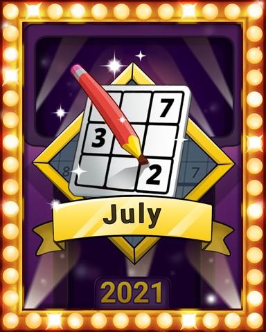 Sudoku Summer Lap 3 Badge - Pogo Daily Sudoku