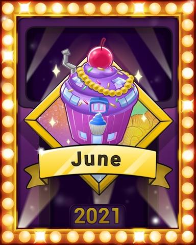 Sweet, Sweet June Lap 1 Badge - Sweet Tooth Town