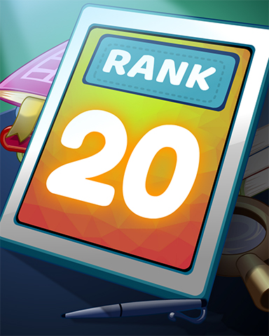 Rank 20 Badge - Word Search Daily HD