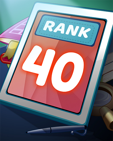 Rank 40 Badge - Word Search Daily HD