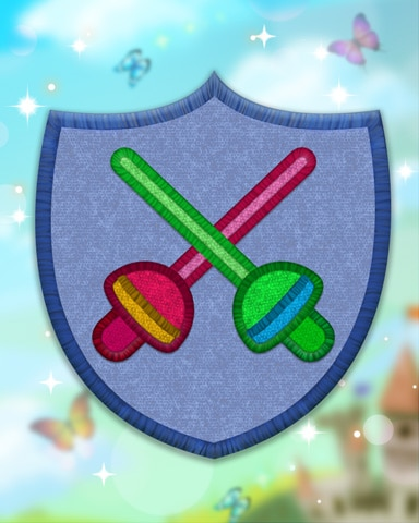 Blue Fencing Badge - Jewel Academy