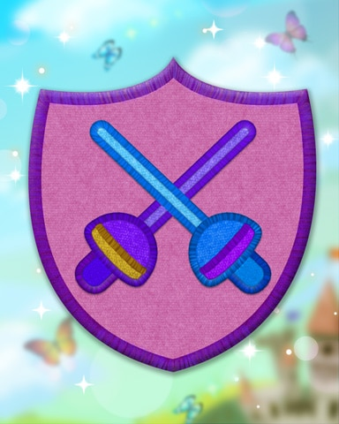 Violet Fencing Badge - Pogo Daily Sudoku