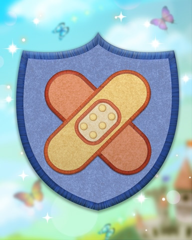 Blue Medic Badge - Jet Set Solitaire