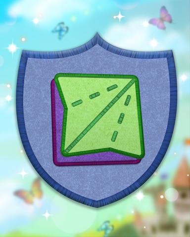 Blue Origami Badge - Quinn's Aquarium