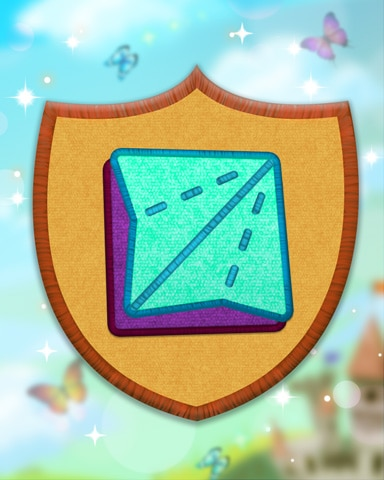 Yellow Origami Badge - Solitaire Blitz