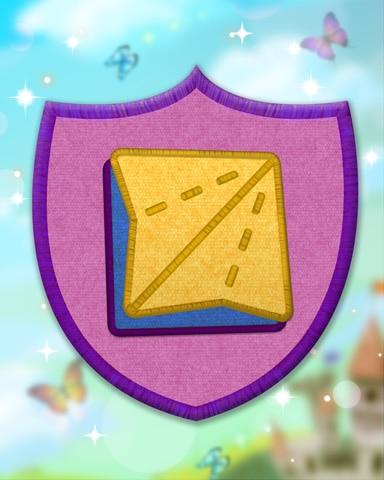 Violet Origami Badge - Trizzle