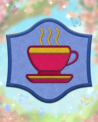Blue Etiquette Badge - Pogo™ Slots
