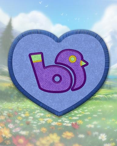 Blue Bird Call Badge - MONOPOLY Sudoku