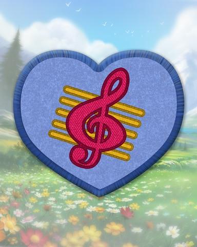 Blue Guitar Badge - Snowbird Solitaire