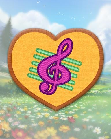 Yellow Guitar Badge - Bejeweled Stars