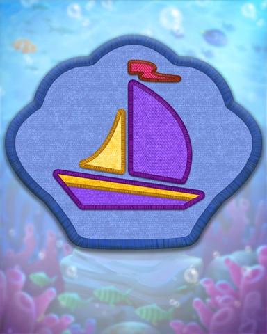 Blue Sailing Badge - Quinn's Aquarium