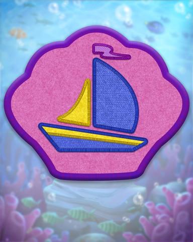 Violet Sailing Badge - Poppit! Bingo