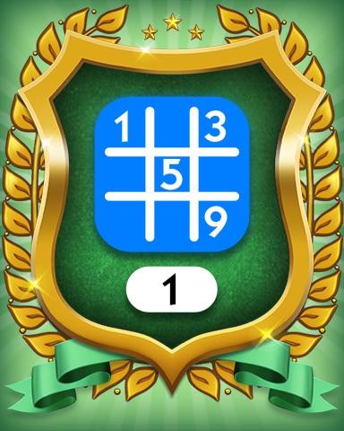 Beginner 1 Badge - MONOPOLY Sudoku