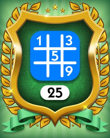 Beginner 25 Badge - MONOPOLY Sudoku