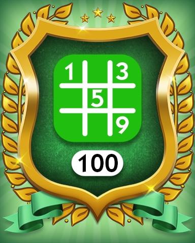 Easy 100 Badge - MONOPOLY Sudoku