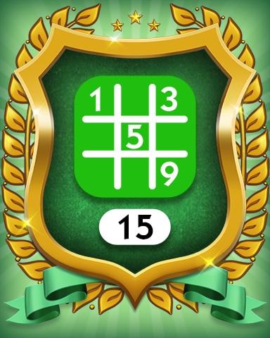 Easy 15 Badge - MONOPOLY Sudoku