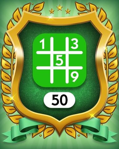 Easy 50 Badge - MONOPOLY Sudoku