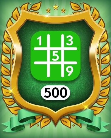Easy 500 Badge - MONOPOLY Sudoku