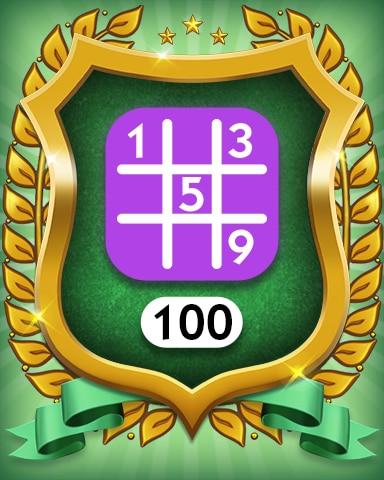 Expert 100 Badge - MONOPOLY Sudoku