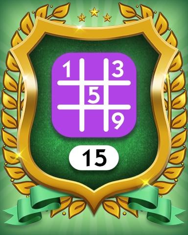Expert 15 Badge - MONOPOLY Sudoku