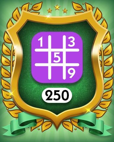 Expert 250 Badge - MONOPOLY Sudoku