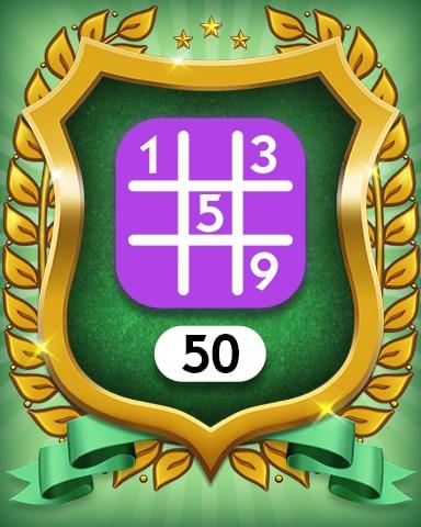 Expert 50 Badge - MONOPOLY Sudoku