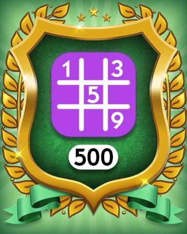 Expert 500 Badge - MONOPOLY Sudoku