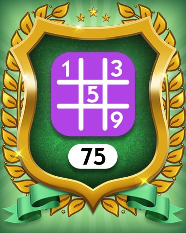 Expert 75 Badge - MONOPOLY Sudoku