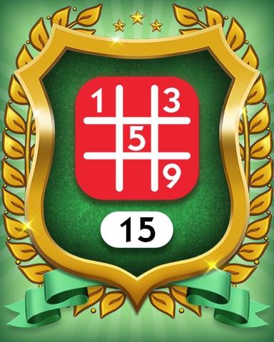 Hard 15 Badge - MONOPOLY Sudoku