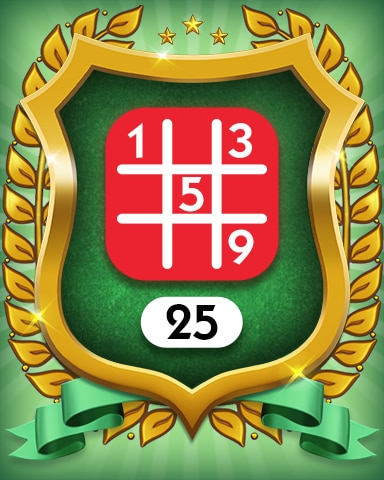 Hard 25 Badge - MONOPOLY Sudoku