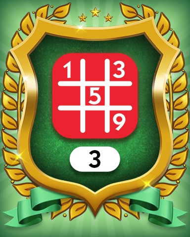 Hard 3 Badge - MONOPOLY Sudoku