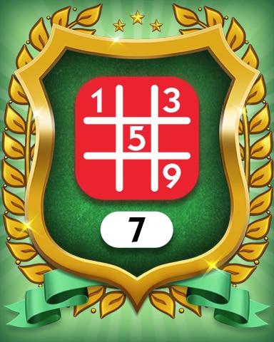 Hard 7 Badge - MONOPOLY Sudoku