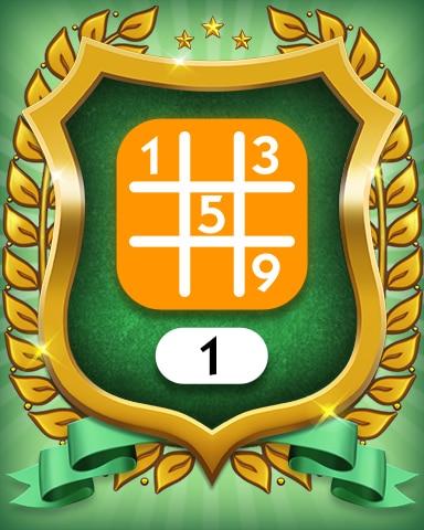 Medium 1 Badge - MONOPOLY Sudoku