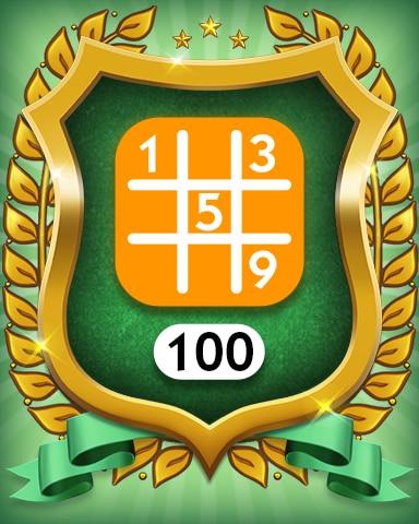 Medium 100 Badge - MONOPOLY Sudoku
