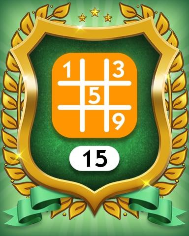 Medium 15 Badge - MONOPOLY Sudoku